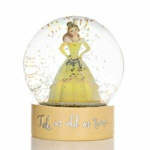 Disney Christmas By Widdop And Co Snowglobe: Belle 'Tale As Old As Time...'