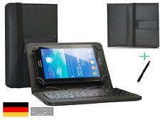 Tablet Tastatur | Vodafone Tab prime 7 Schutzhülle Keyboard | 10.1 Zoll Schwarz
