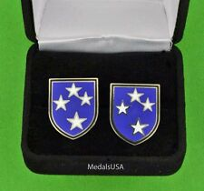 U.S. Army 23rd Division Cuff Links & Gift Box Cufflinks Americal Usa