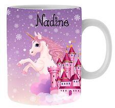 Kinderbecher Einhorn Pferd bruchfest mit Name Kindertasse Kunststoffbecher Tasse