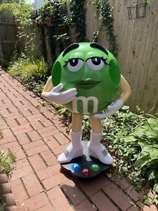 """Green M&M Candy Store Display 39"""" High"""