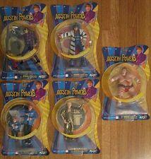 Austin Powers 2002 Mezco Toys Nos 6 Figure Complete Set