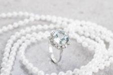 Unisex Echtschmuck mit 54 (17,2 mm Ø) Diamant
