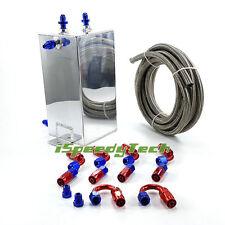 4L Universal Complete Fuel Surge Tank 4 Litre Swirl Pot System Kits Aluminium