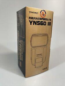 Yongnuo Digital SpeedLite Flash YN560 III, V2018, 2.4G, Black