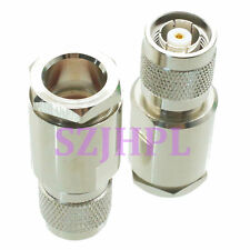 1pce Connector RP.TNC male jack clamp RG8 RG213 LMR400 RG214 cable straight