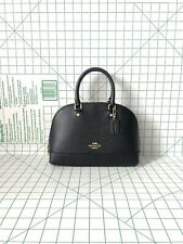 Coach F27591 Mini Sierra Crossgrain Leather Satchel Crossbody Bag in Black