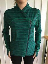 Lululemon Size 2 Precision Jacket Green Blue CDRW Bhakti Define NWT Wee Stripe
