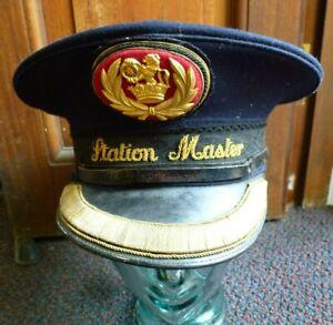 Station Master Train Railway Hat Cap 1962 Badges J Compton & Sons Webb London