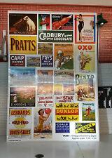 G LGB 1:24 Maßstab Vintage Bahnhof Reklame Notices Poster Eisenbahn Layout