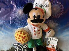 Disney Parks EPCOT Italia Mickey Mouse Mustache Plush Pizza Disney Store Italy