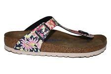 Birkenstock Gizeh Navy Floral Summer Footbed Sandals
