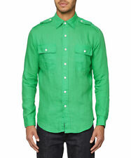 Ralph Lauren Linen Patternless Casual Shirts & Tops for Men