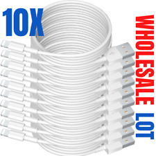 10X Wholesale Bulk 3Ft 6Ft Usb Cord Lot For iPhone 8 7 11 Charger Charging Cable