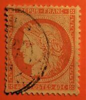 FRANCE EMISSION SIEGE DE PARIS N° 38 TB- 1162-1)AVEC OBLITERATION Cad
