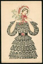 Artist Signed MELA KOEHLER  69  ART DECO  Postcard