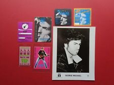 Wham,George Michael,1 promo photo,6 Rare Original backstage passes