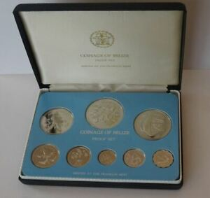 COINAGE OF BELIZE, COLLECTOR'S STERLING SILVER PROOF SET, 1977