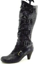 Miz Mooz Size 8.5 M Black Long Leather Zip Boots