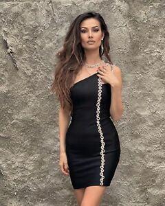 Celebrity Black Bodycon Women Girl Birthday Summer Dress Coctail Evening Casual