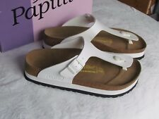 NEW Papillio Gizeh Ladies White Platform Toe Post Mules Sandals Size 7.5 EU 41