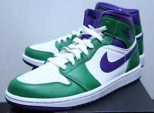 Air Jordan Retro 1 Mid Incredible Hulk Green Sneakers Men's 8-13 554724-300 New