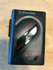 Vintage Emerson Am Fm Stereo Cassette Walkman Model Ac2105 Working