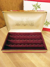 Vintage MELE Style Pierced Earring Jewelry Box Travel Case
