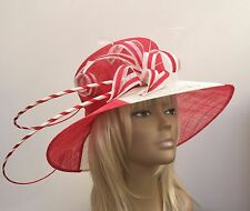 New Red & Ivory Women's Hat Weddings Mother Of The Bride/Groom Lady's Day Races