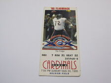 Aug 20,1995 Chicago Bears vs Cardinals Ticket Stub