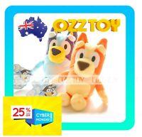 ❤ Small BLUEY or BINGO Dog Friends Plush ~❤ ABC Kids TV Moose Toy 20cm ❤ OZZ TOY