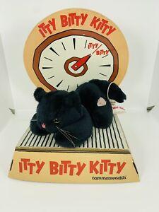 VTG Commonwealth Itty Bitty Kitty Plush Squeaking Black Cat Rare HTF