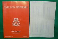 catalogue vente enchères VERSAILLES Tableaux modernes + liste prix de vente (7)
