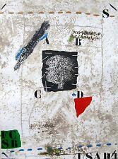 JAMES COIGNARD Signed 1976 Original Color Carborundum Etching and Collage