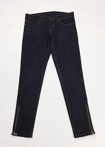 Divina jeans skinny slim stretti aderenti blu donna w26 tg 40 zip stretch T2700