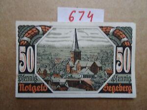 NOTGELD GERMANY   50 Pfg -  SEGEBERG  -   AU/UNC