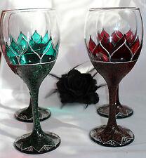Black Rose Wine Glass Goth Metal Halloween Gift Angel Vampire Darkwave Pagan