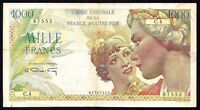 French Equatorial Africa 1000 Francs ND P-26  1947  aVF