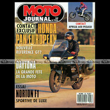 MOTO JOURNAL N°933 JOHNNY HALLYDAY DAYTONA KEVIN SCHWANTZ NORTON F1 WANKEL 1990