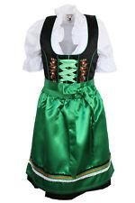 Germany,German,Trachten,Oktoberfest,Dirndl Dress,3-pc.Sz.14,Green,Black,Flowers