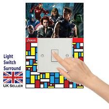 Avengers Light switch surround Sticker/Decal Children, Boys Girls Room-sw2