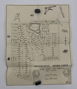 Vintage Inverness Highlands Citrus County Florida Map Owners & Developers