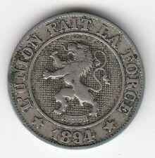 MONNAIE 10 CT LEOPOLD II ROI DES BELGES  1894