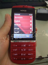 Red Unlocked Original Nokia Asha 300 Hebrew Keyboard Etc. Touch & Type Phone