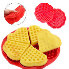Mini Love Heart Silicone Waffles Pan Cake Baking Baked Cake Chocolate Mold Tray