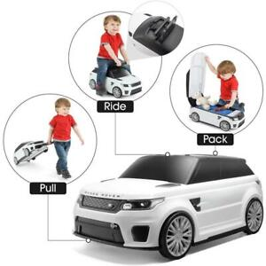 Kids Range Rover 2 in 1 Suitcase and Ride On Includes hidden tractable handle