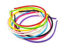 3 x 5mm Plastic Girls Kids Headband Ladies Alice Band Girl Random Colour Hair UK