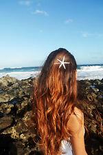 Single White Mermaid Starfish Bobby Hair Pin Clip Accessories