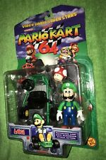 1999 Toy Biz Mario Kart 64 RARE Luigi Figure With Kart!!