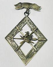 Vintage Antique Knights of Pythias Supreme Lodge Fob Brooch Pin 1874 SS Davis